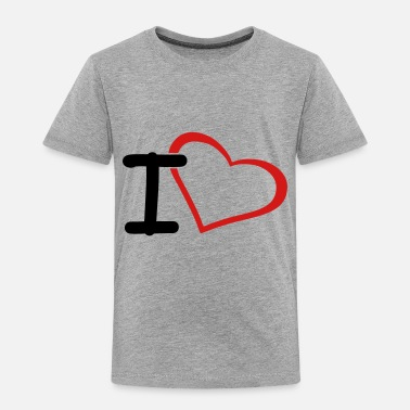 I Heart i heart - Toddler Premium T-Shirt