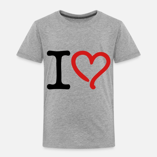 Love Baby Clothing - I Love - Toddler Premium T-Shirt heather gray