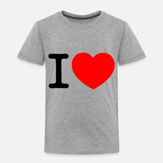 I Heart Baby Clothing - i love (transparent background) - Toddler Premium T-Shirt heather gray