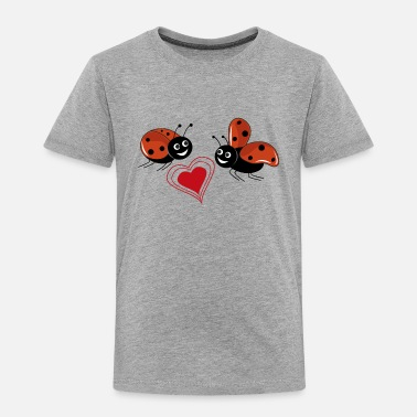 Love ladybirds with red heart - Toddler Premium T-Shirt