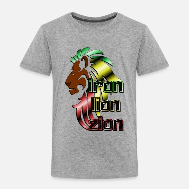 Iron Metal Reggae music, rastafari, Iron, lion, zion metal - Toddler Premium T-Shirt