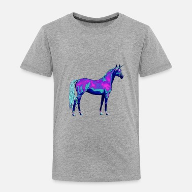 Neon Lonely Unicorn - Toddler Premium T-Shirt