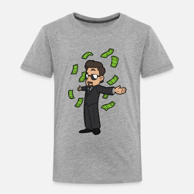 Moneygrubbing Paul Money Tooney - Toddler Premium T-Shirt