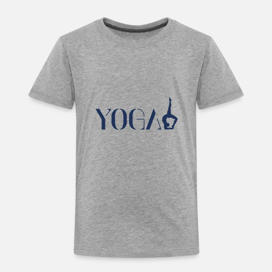 Meditation Baby Clothing - Yoga Yoga Yoga Yoga - Toddler Premium T-Shirt heather gray