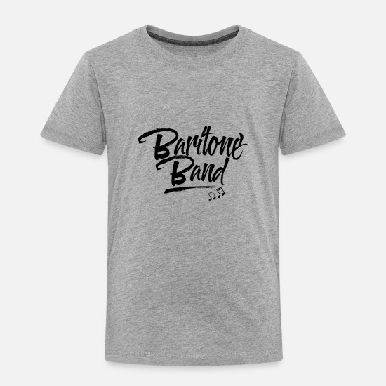 Music Baby Clothing - Baritone Musician - Toddler Premium T-Shirt heather gray
