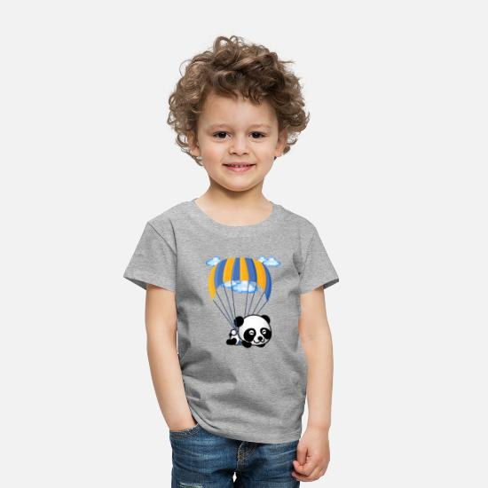 Awesome Baby Clothing - Flying Panda - Toddler Premium T-Shirt heather gray