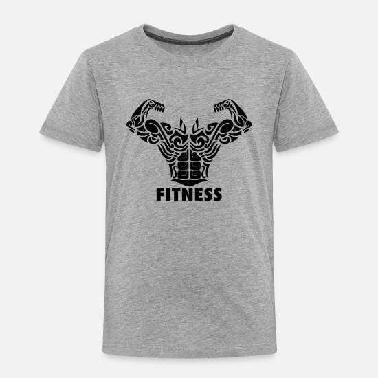 Fitness Baby Clothing - Fitness - Toddler Premium T-Shirt heather gray