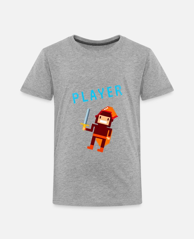 "8 Bit T-Shirts - ""8BIT PLAYA"" - Toddler Premium T-Shirt heather gray"