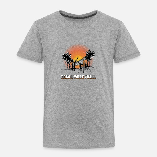 Florida Baby Clothing - Beach Volleyball - Toddler Premium T-Shirt heather gray