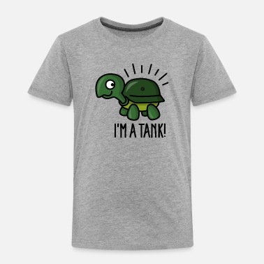 Tank I'm a tank - funny turtle with army helmet - Toddler Premium T-Shirt