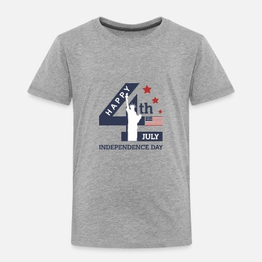 Day 4th of July - Happy Independence Day - Toddler Premium T-Shirt