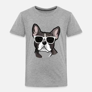 Bulldog French Bulldog Wearing Sunglasses - Toddler Premium T-Shirt
