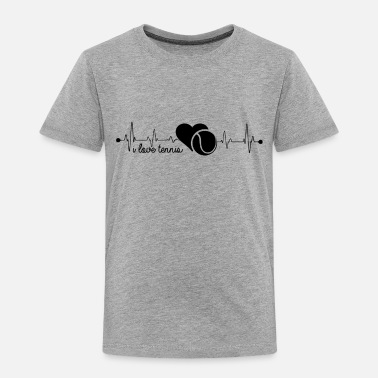 I Love Tennis I Love Tennis Heartbeat Shirt - Toddler Premium T-Shirt