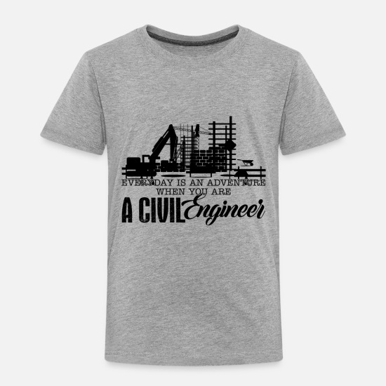 Civil Engineering Baby Clothing - Civil Engineer Adventure Shirt - Toddler Premium T-Shirt heather gray