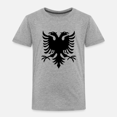 Albanian Eagle Albanian Flag Double Eagle - Toddler Premium T-Shirt