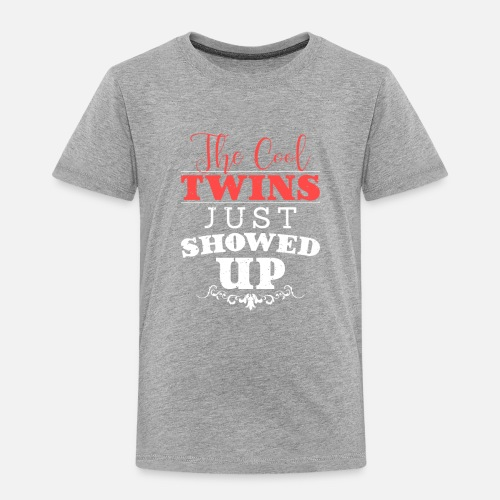 The Cool Twins Family Birthday Gift Funny Toddler Premium T