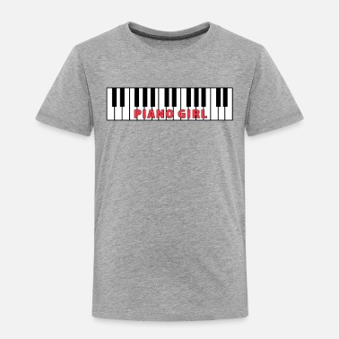 Piano Piano Girl Pianist Lover Gift Idea - Toddler Premium T-Shirt