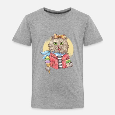 Rockabilly Funny Furry Cat Music - Toddler Premium T-Shirt