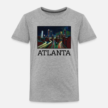 Us Atlanta City Skyline USA US - Toddler Premium T-Shirt