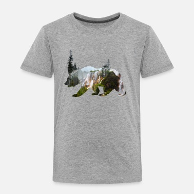 Grizzly baer grizzly mountains outdoor trip wild national - Toddler Premium T-Shirt