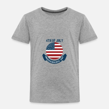 Stars And Stripes 4th July Independence Day - Toddler Premium T-Shirt