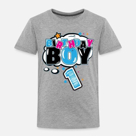 Toddler Premium T ShirtBirthday Boy 1 Year Old Birthday Shirt