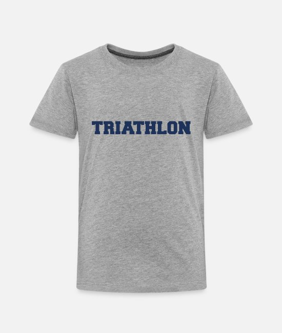 Cycling T-Shirts - Triathloner - Toddler Premium T-Shirt heather gray