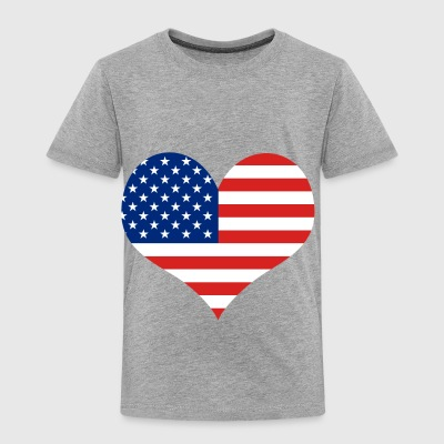 Big Heart - Fourth of July | Independence Day - Toddler Premium T-Shirt