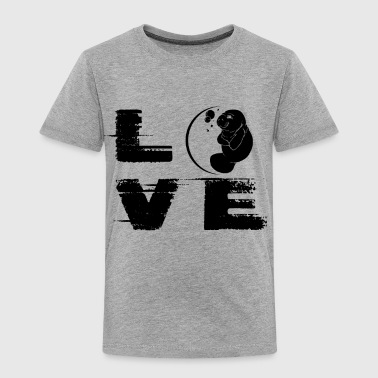 Manatee Love T Shirt - Toddler Premium T-Shirt