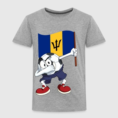 Barbados Dabbing Soccer Ball - Toddler Premium T-Shirt