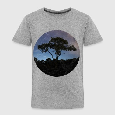 Tree in a circle with purple sky - Toddler Premium T-Shirt