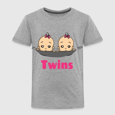 Twins Girls Pregnancy Pregnant Birth - Toddler Premium T-Shirt