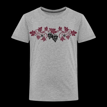 Wine grape with vine leaves, vine. - Toddler Premium T-Shirt
