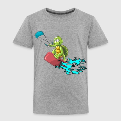 Kitesurfer turtle - Toddler Premium T-Shirt