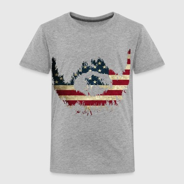Rustic America Flag - Toddler Premium T-Shirt