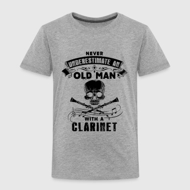 Old Man With A Clarinet Shirt - Toddler Premium T-Shirt
