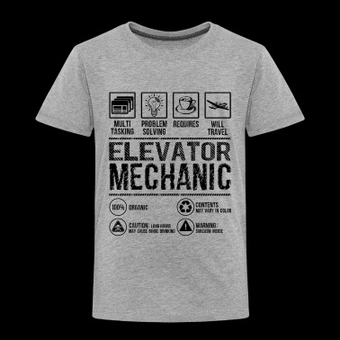 Elevator Mechanic Multitasking Shirt - Toddler Premium T-Shirt