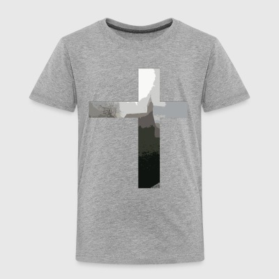 Crucifix And Church - Toddler Premium T-Shirt