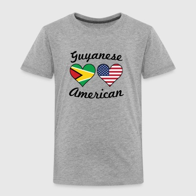 Guyanese American Flag Hearts - Toddler Premium T-Shirt