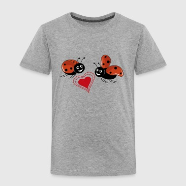 ladybirds with red heart - Toddler Premium T-Shirt
