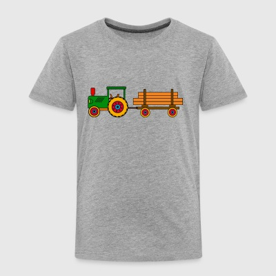 toy tractor with trailer - Toddler Premium T-Shirt
