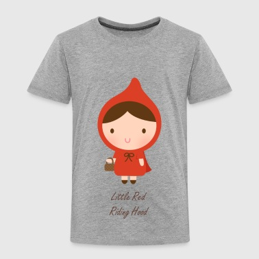cute little red riding hood - Toddler Premium T-Shirt