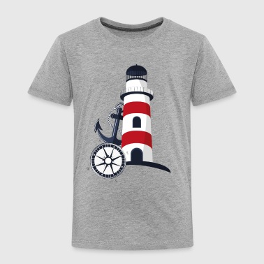 Sea retro lable lighthouse anchor compass vector - Toddler Premium T-Shirt