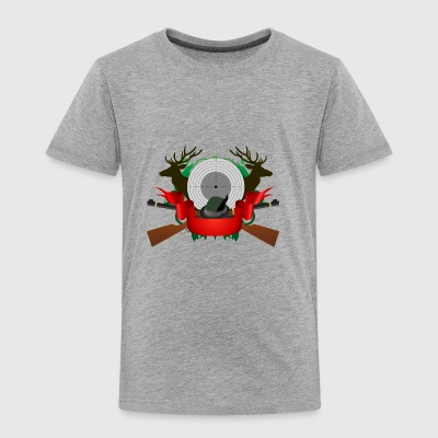 hunter deer best hunter red ribbon antler weapon - Toddler Premium T-Shirt