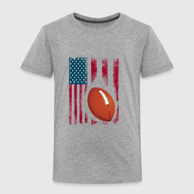 football american flag sport team club ball - Toddler Premium T-Shirt
