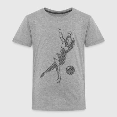 Woman playing bowling - Toddler Premium T-Shirt