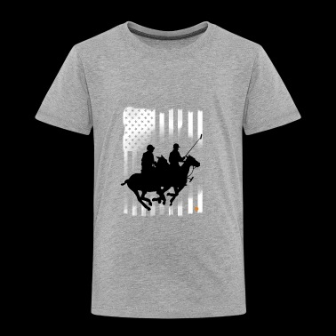 american polo horse flag usa sport hit club pride - Toddler Premium T-Shirt