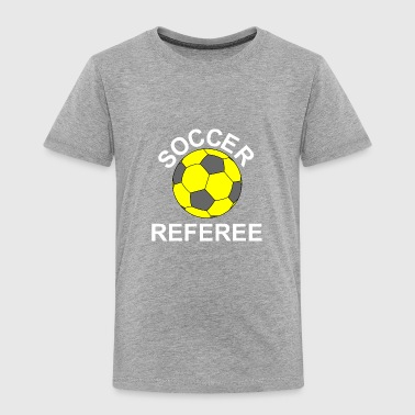 Soccer Referee White Text - Toddler Premium T-Shirt