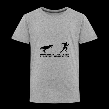 Dino Running Motivation Men Shirt - Toddler Premium T-Shirt