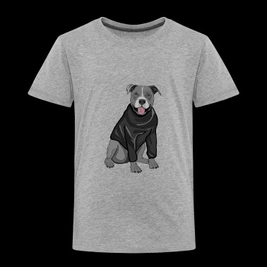 Sweet dog sweater dogs lover gift idea stafford - Toddler Premium T-Shirt